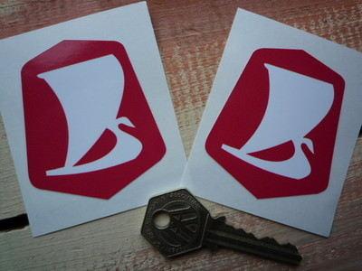 """Lada Logo Stickers. 2"""" Pair."""