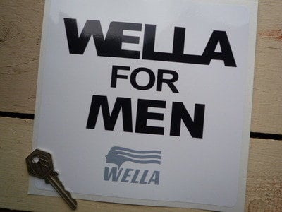 """Wella For Men Sponsors Sticker. 7""""."""