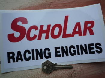 "Scholar Racing Engines Formula Racing Sticker. 8""."