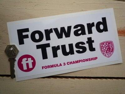 "Forward Trust Formula 3 Championship Sticker. 8""."