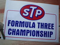 "STP Formula Three Championship Sticker. 8""."