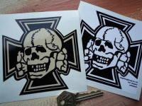 Skull & Iron Cross Shaped Sticker. 4