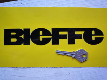 "Bieffe Cut Vinyl Text Stickers. 8"" Pair."