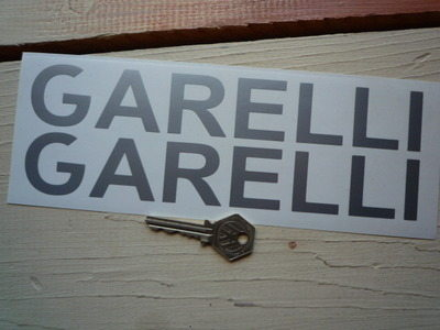 "Garelli Cut Vinyl Text Stickers. 9"" Pair."