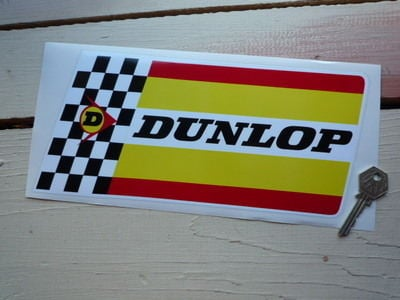"Dunlop Extra Thick Check & Stripes Sticker. 11""."