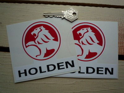 """Holden Shaped Stickers. 4.5"""" Pair."""