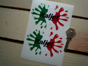 "Italjet Moto Splat Stickers. 4"" Pair."