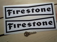 Firestone 'Dicky Bow' Black on White Stickers. 10