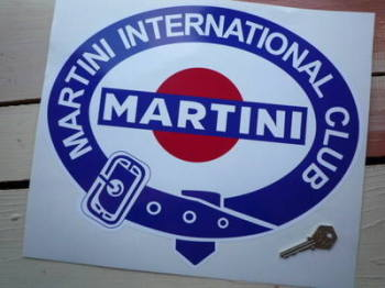 "Martini International Club. Belted Logo without Gold Sticker. 8""."