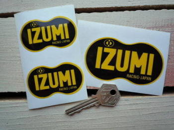 "Izumi Racing Japan Stickers. 2.5"" or 3.5"" Pair."