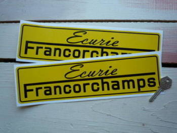 "Ecurie Francorchamps Stickers. 12"" Pair."