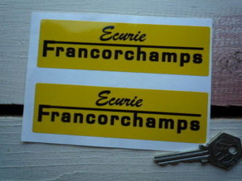 "Ecurie Francorchamps Stickers. 5"" Pair."