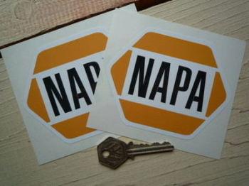 "NAPA Auto Parts Stickers. 4"" Pair."