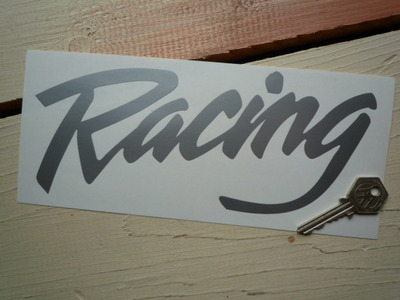 "Racing Cut Vinyl Sticker. 9""."