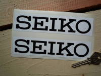 Seiko White & Black Oblong Stickers. 6