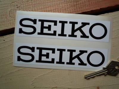Seiko White & Black Oblong Stickers. 6
