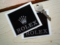 Rolex Sponsors Black & Silver Stickers. 3