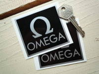 Omega Black & Silver Stickers. 3