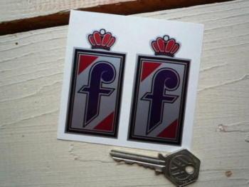 "Pininfarina Logo Stickers. 3"" Pair."