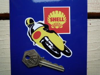 "Shell Bike Racer Sticker. 3""."