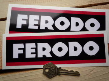 "Ferodo Style 3 Oblong Stickers. 6.5"" or 8"" Pair."