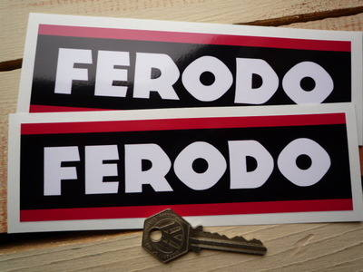 """Ferodo Style 3 Oblong Stickers. 6.5"""" or 8"""" Pair."""