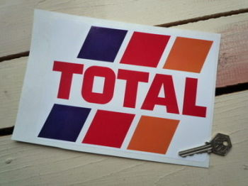 "Total Fuel Stripes Sticker. 8""."