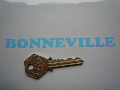 """Bonneville Cut Vinyl Cooper Style Text Stickers. 4.75"""" Pair."""