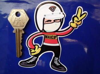 "Maico Rider 2 Fingered Salute Sticker. 3.5""."