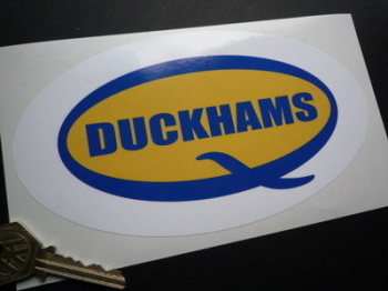 "Duckhams 'Q' Oval Sticker. 7""."