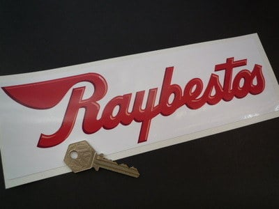 Raybestos Brakes Red White Oblong Sticker 10