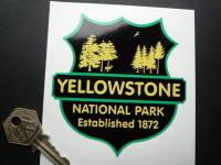 "Yellowstone National Park Established 1872 Sticker. 3.5""."