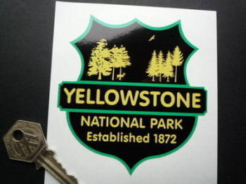 "Yellowstone National Park Established 1872 Sticker. 3.5""."