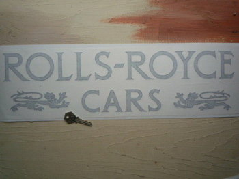 "Rolls Royce Cars. Dealers Style Sticker. 20""."