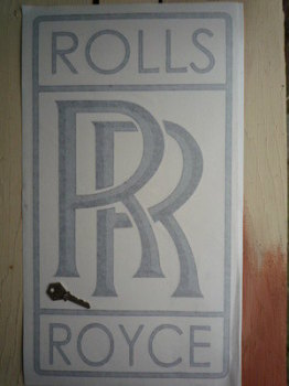 "Rolls Royce RR Logo Cut Vinyl Sticker. 19.5""."