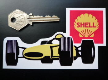 "Shell GP Racer Sticker. 5""."