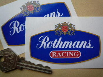 "Rothmans Red Racing with White Outline Stickers. 1.25"", 2"", 3"" or 6"" Pair."