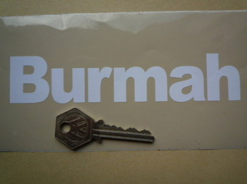 "Burmah Cut Vinyl Close Text Stickers. 6"" Pair."