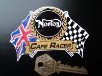 Norton Flag & Scroll Various Models Sticker. 4