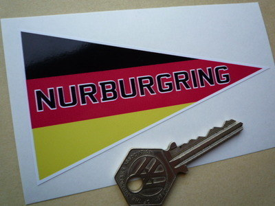 "Nurburgring Travel Pennant Style Sticker. 4.5""."