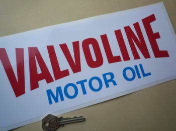"Valvoline Motor Oil Oblong Sticker. 12""."