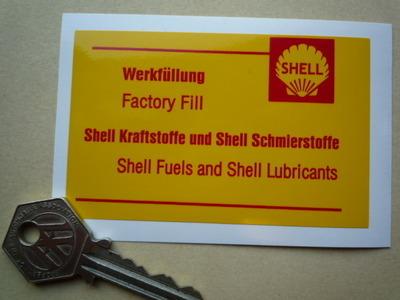 Porsche Shell Fuels & Lubricants Sticker. Engine Bay. 3.5