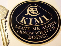 "Kimi Raikkonen 'Leave Me Alone I Know What I'm Doing' Beige Lotus Sticker. 3""."