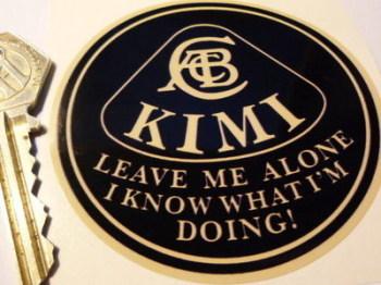 "Kimi Raikkonen 'Leave Me Alone I Know What I'm Doing' Beige Lotus Sticker. 3""."