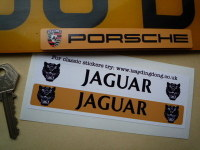 Jaguar Number Plate Dealer Logo Cover Stickers. 5.5