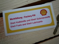 Shell Fuels & Lubricants Sticker. Engine Bay. 4.5