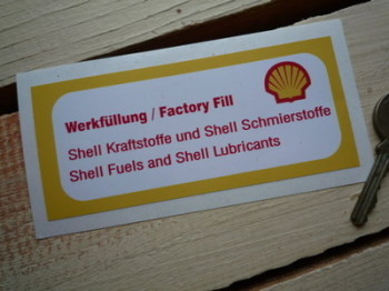 "Shell Fuels & Lubricants Sticker. Engine Bay. 4.5""."