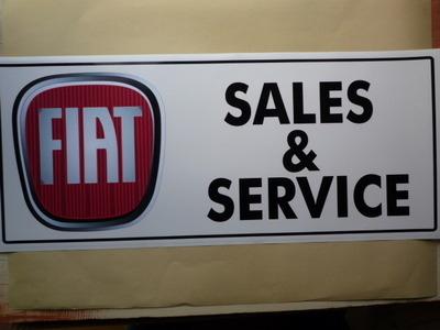 Fiat Modern Logo Sales Service Workshop Sticker 235