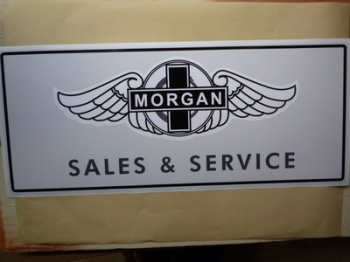 "Morgan Sales & Service Workshop Sticker. 23.5""."