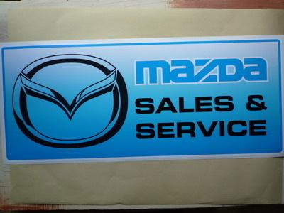 Mazda Sales & Service Workshop Sticker. 23.5